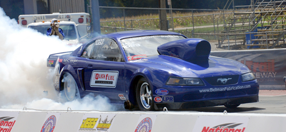 USA Sponsored Car Ohio NMRA Mustang Murillo Drag Racing