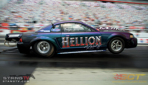 USA Sponsored Car Mustang Murillo Event Drag Racing All Star Nationals