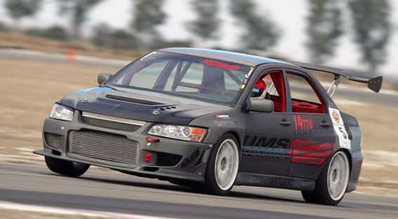 Time Attack Sponsored Car Sierra Sierra EVO 8 Buttonwillow Raceway