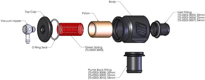 Turbosmart Kompact Plumb Back 34mm