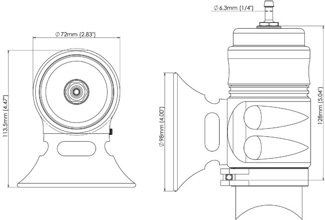 Bubba sonic general dimensions