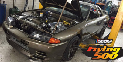 Turbosmart Flying 500 Entrant: Dennis O'Malley's Ford-powered R32 Skyline
