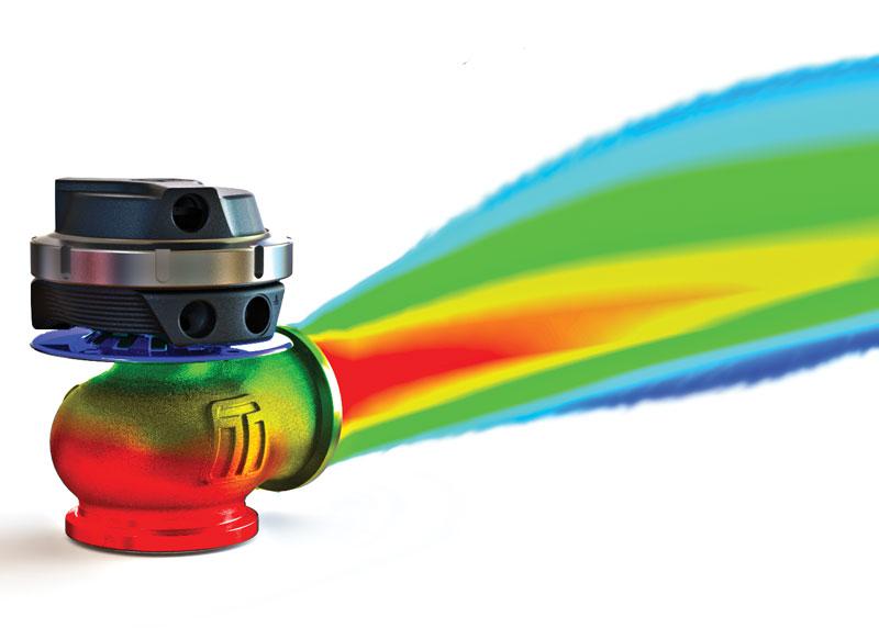 Turbosmart V series wastegate Thermal flow
