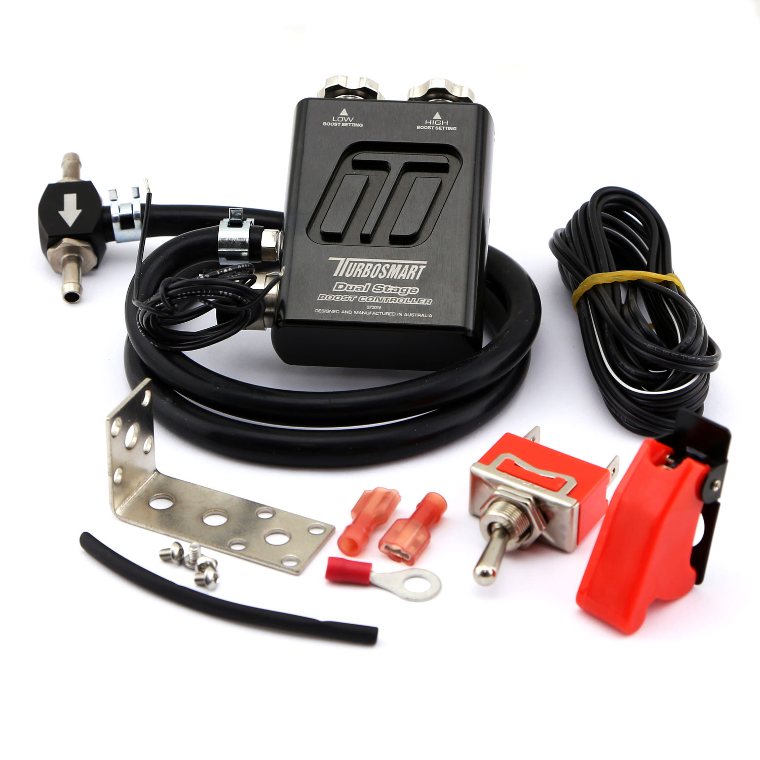 Black TurboSmart GCBV Dual Stage Manual Turbo Boost Controller TS-0105-1002